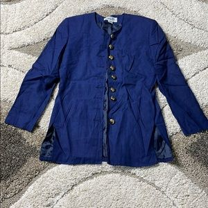 Christian Dior Blue Jacket with Gold buttons